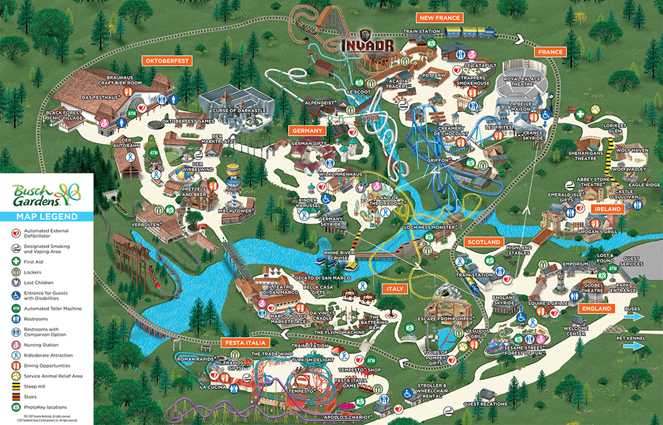 Awesome Busch Gardens Williamsburg Spring Map.png Idea